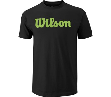 Wilson - Script Cotton men's tennis top (black/green)