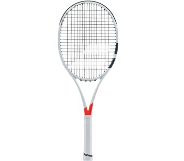 Babolat - Pure Strike 18/20 unstrung tennis racket (white/red)