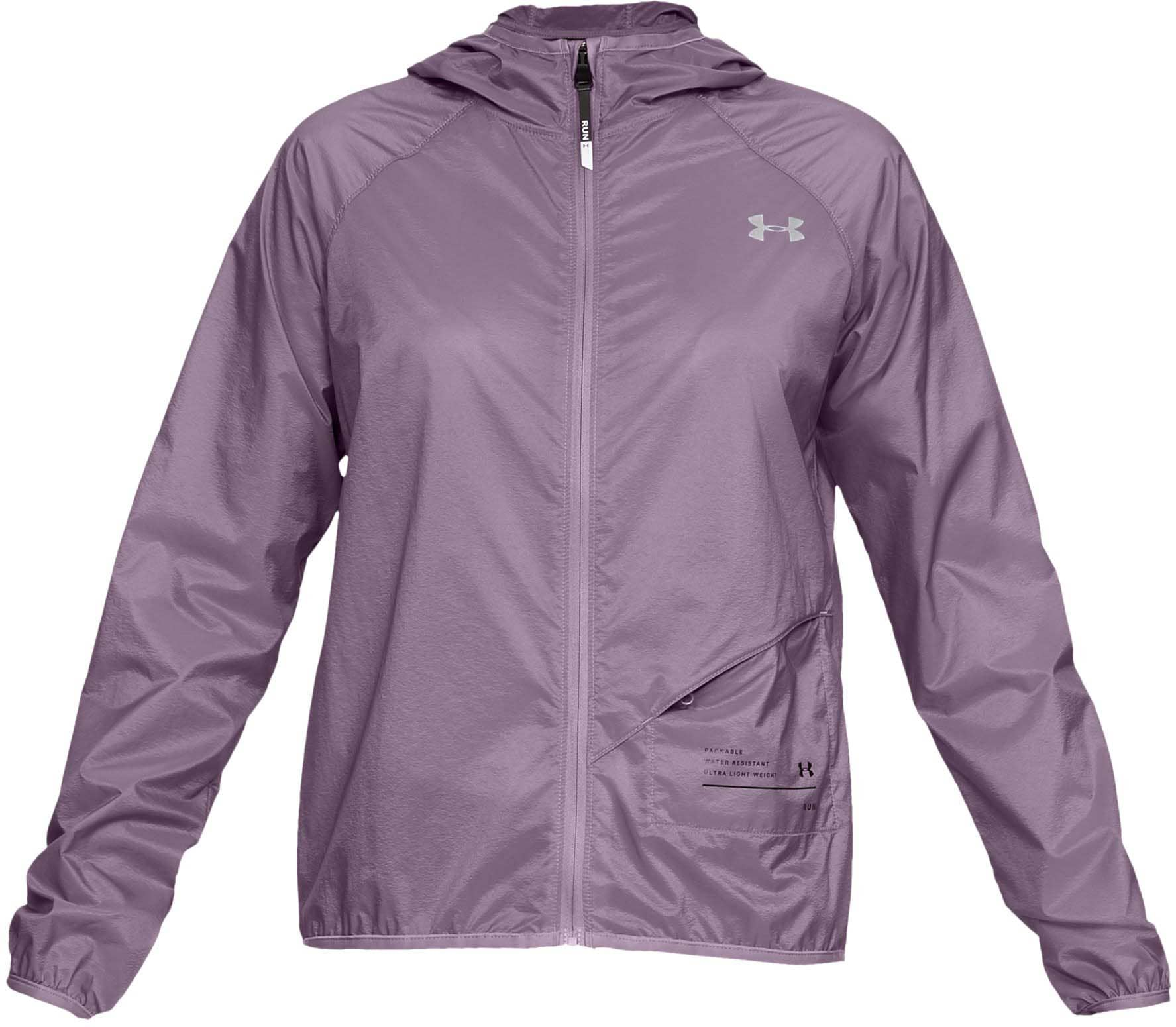 Under Armour - Qualifier Storm Packable Kvinder løbejakke (lilla)