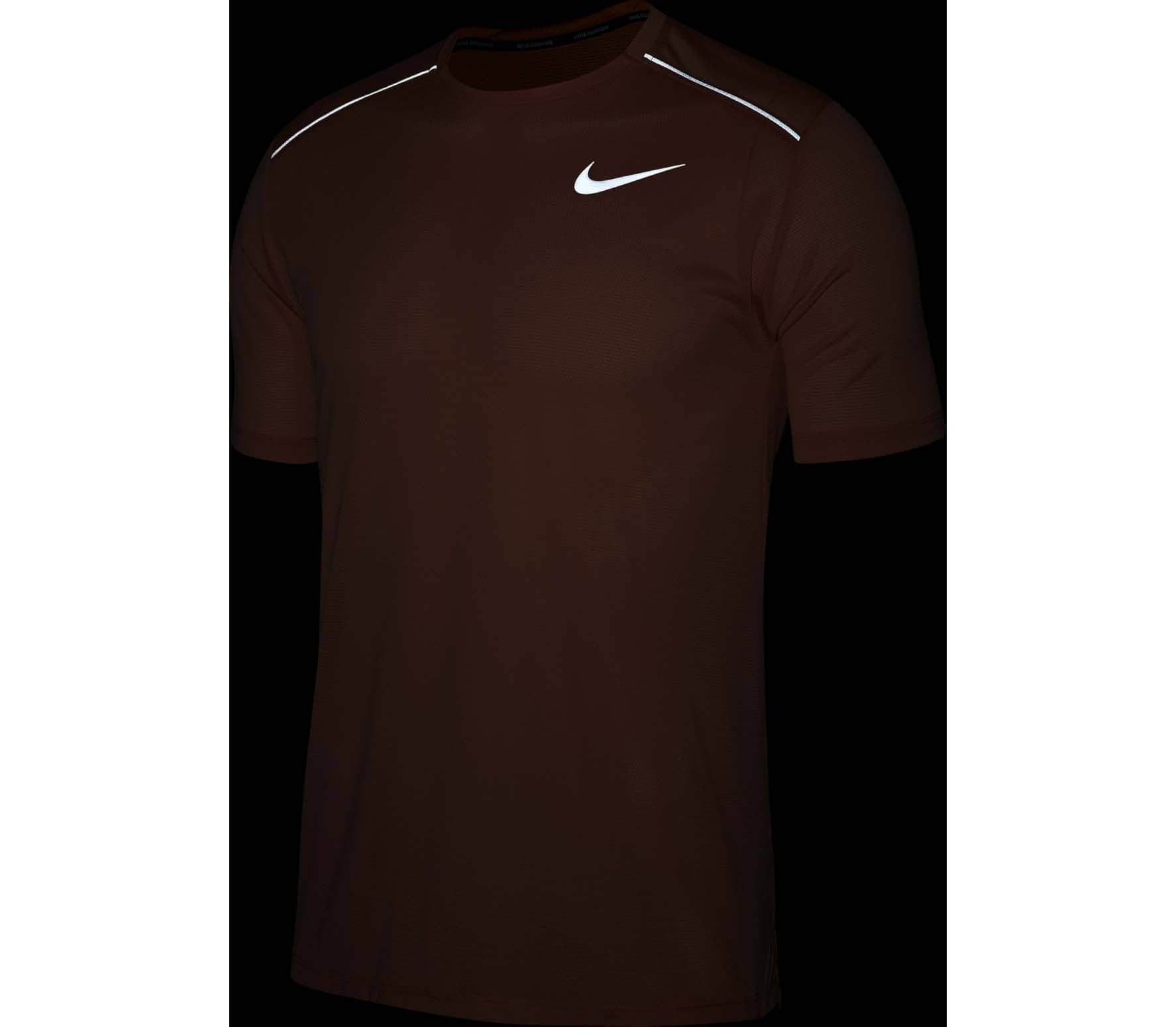 Nike Dri-FIT Cool Miler Hommes Haut running orange