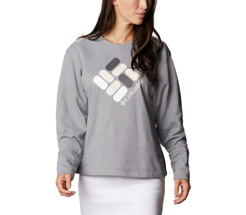 Columbia Logo™ French Terry Crew Dames Fleece Trui
