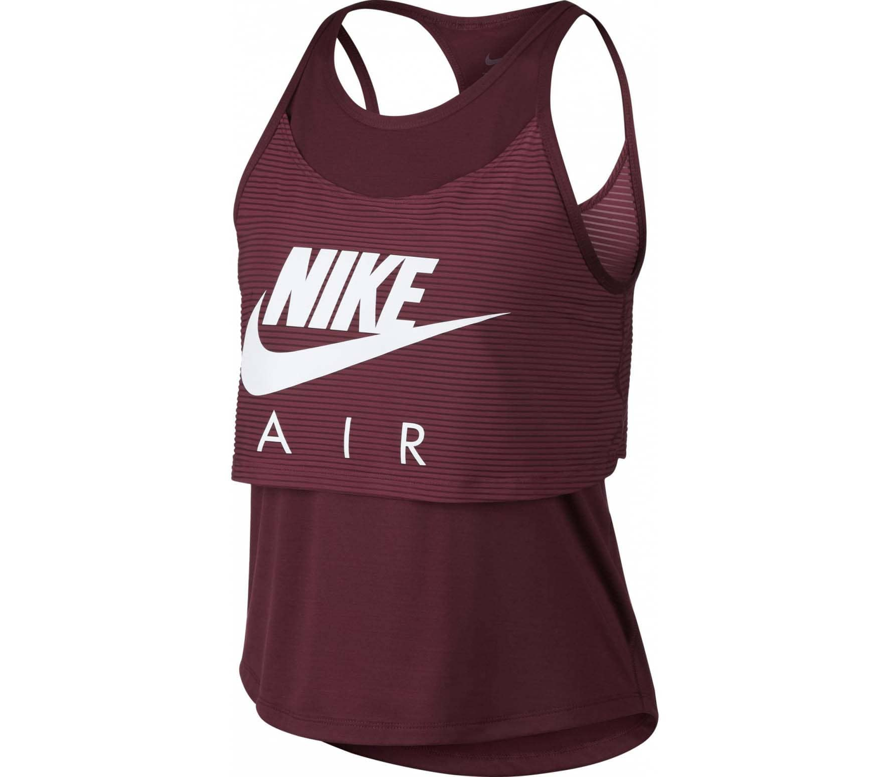 check out 09b54 637de Nike - Air Graphic women s running tank top top (weinrot)