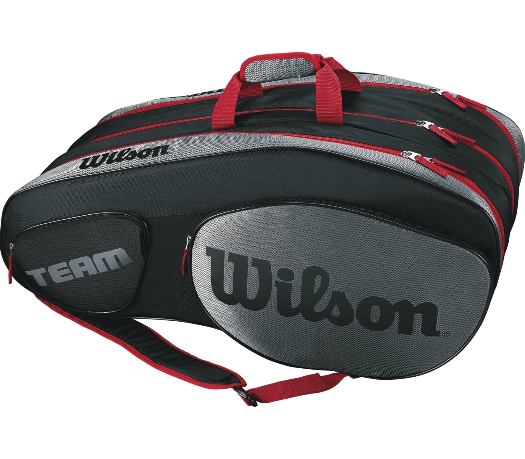 a49595f349a Wilson - Team III 12 Pack tennis bag (black/red) - buy it at the ...
