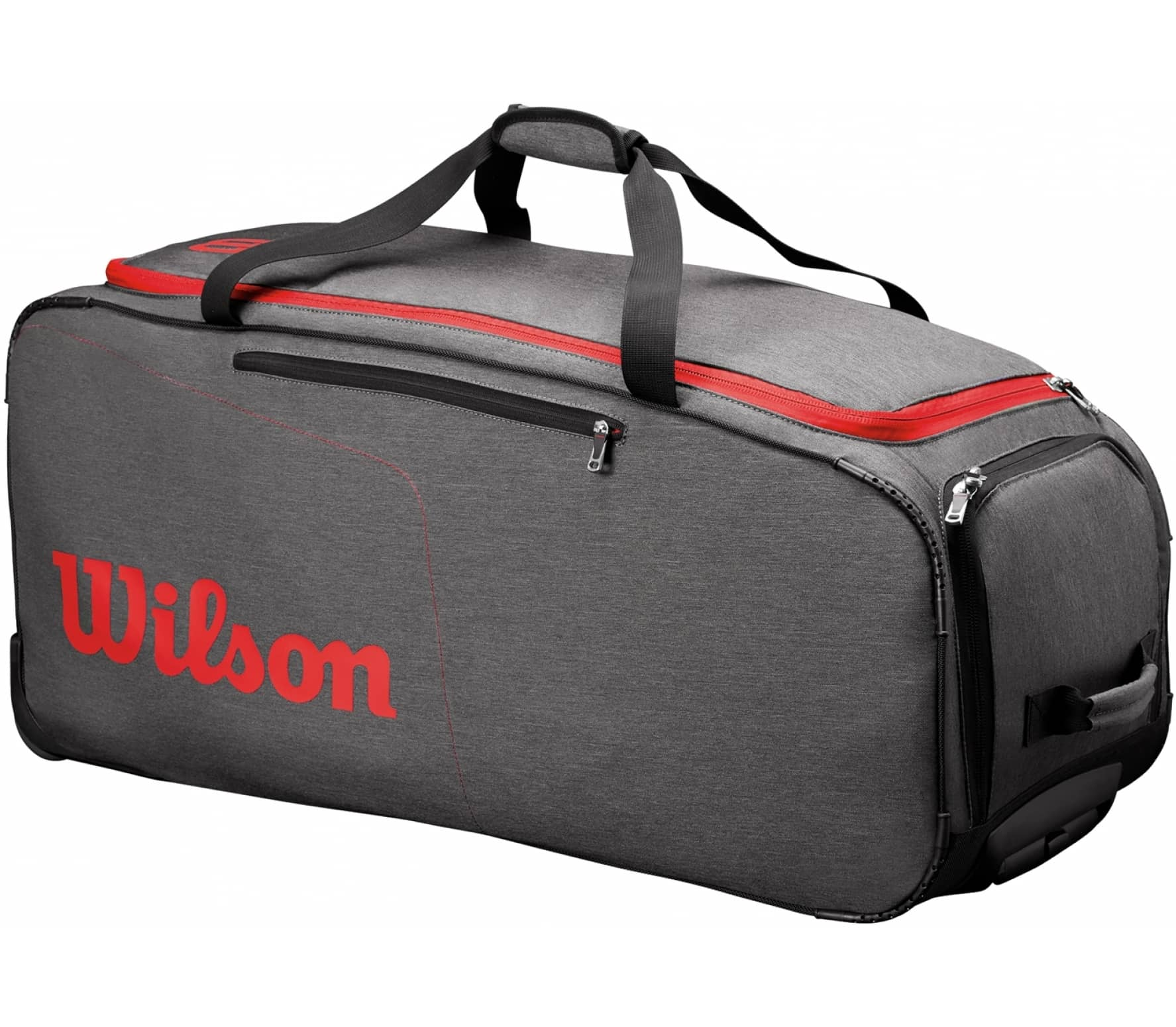 74ae1daa42c Wilson - Wheeled Travel duffel bag women s tennis bag (black red ...