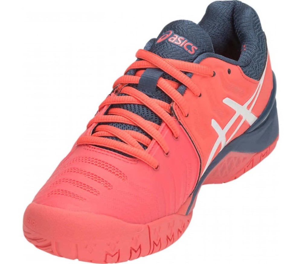 ASICS - Gel-Resolution 7 Damen Tennisschuh (orange/weiß)