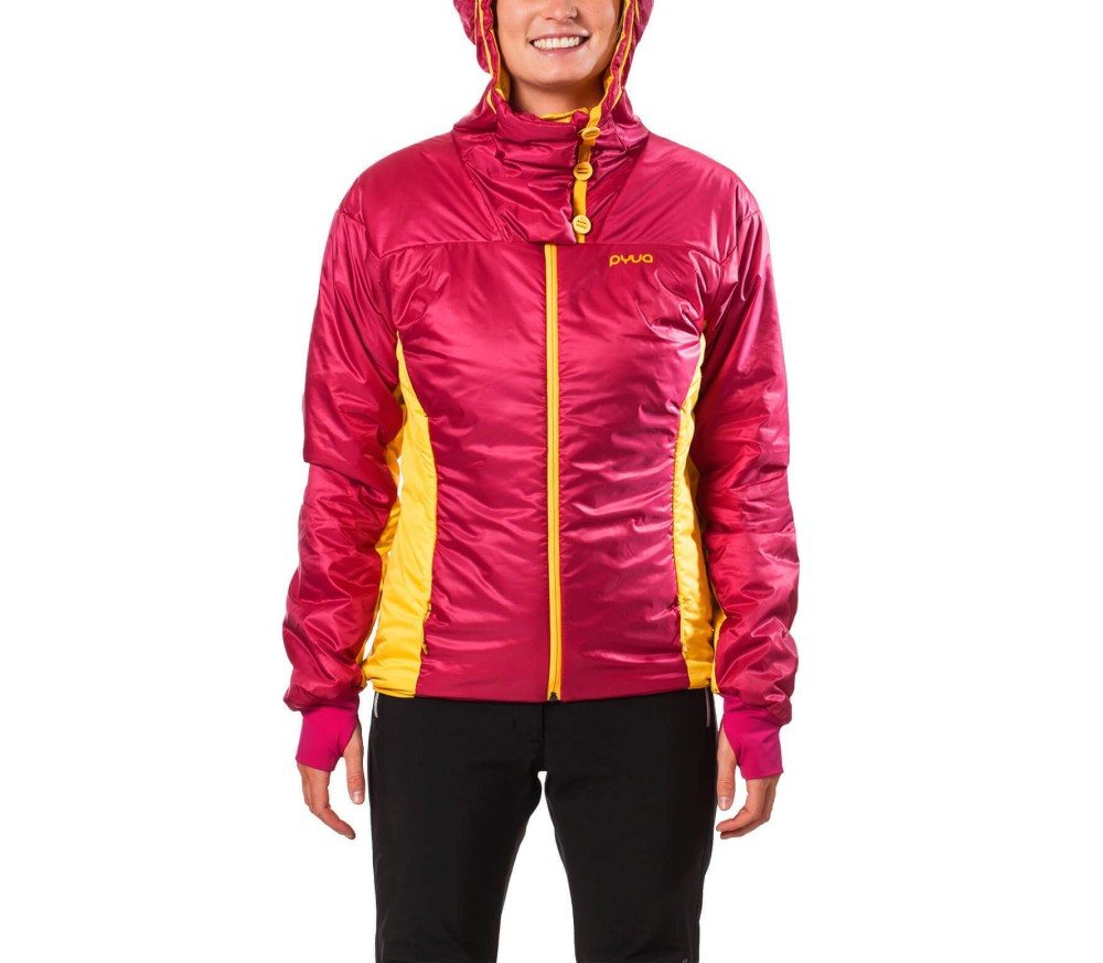 Pyua Fuse Insulated Hooded Damen Jacke rot
