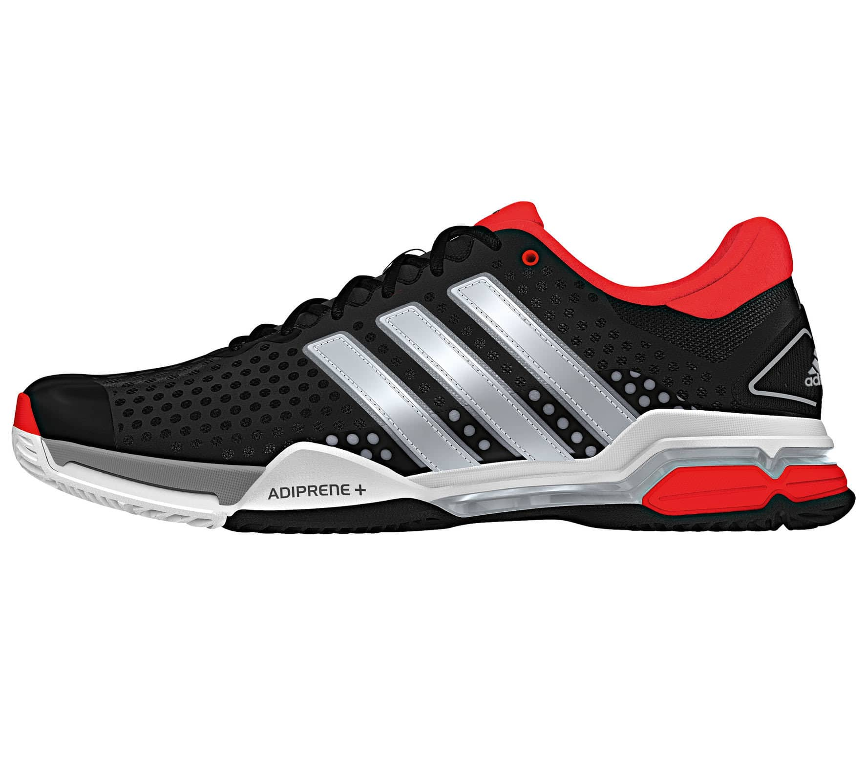 competitive price 58e4b c462f Adidas - Barricade Team 4 Synthetic Allcourt Heren Tennis schoen (zwart rood)
