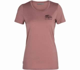 Icebreaker Tech Lite Low Crewe The Good Life Mujer Camiseta