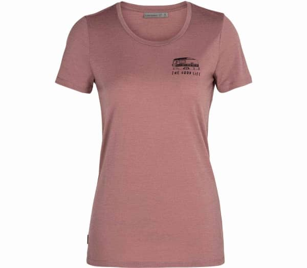ICEBREAKER Tech Lite Low Crewe The Good Life Women T-Shirt - 1
