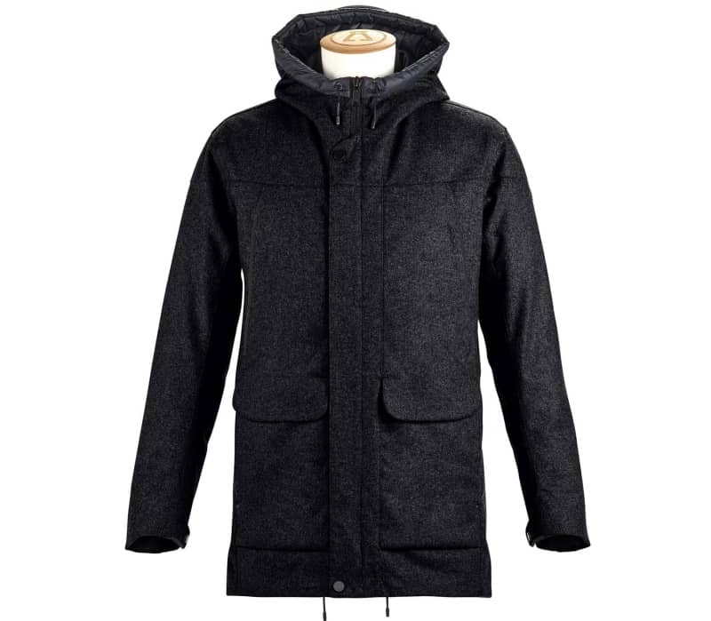 Insulated Tech Wool Herren Mantel