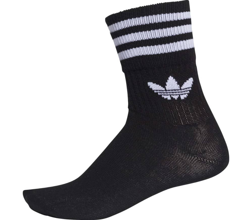 Mid Cut Solid Crew 3 Pack Socks