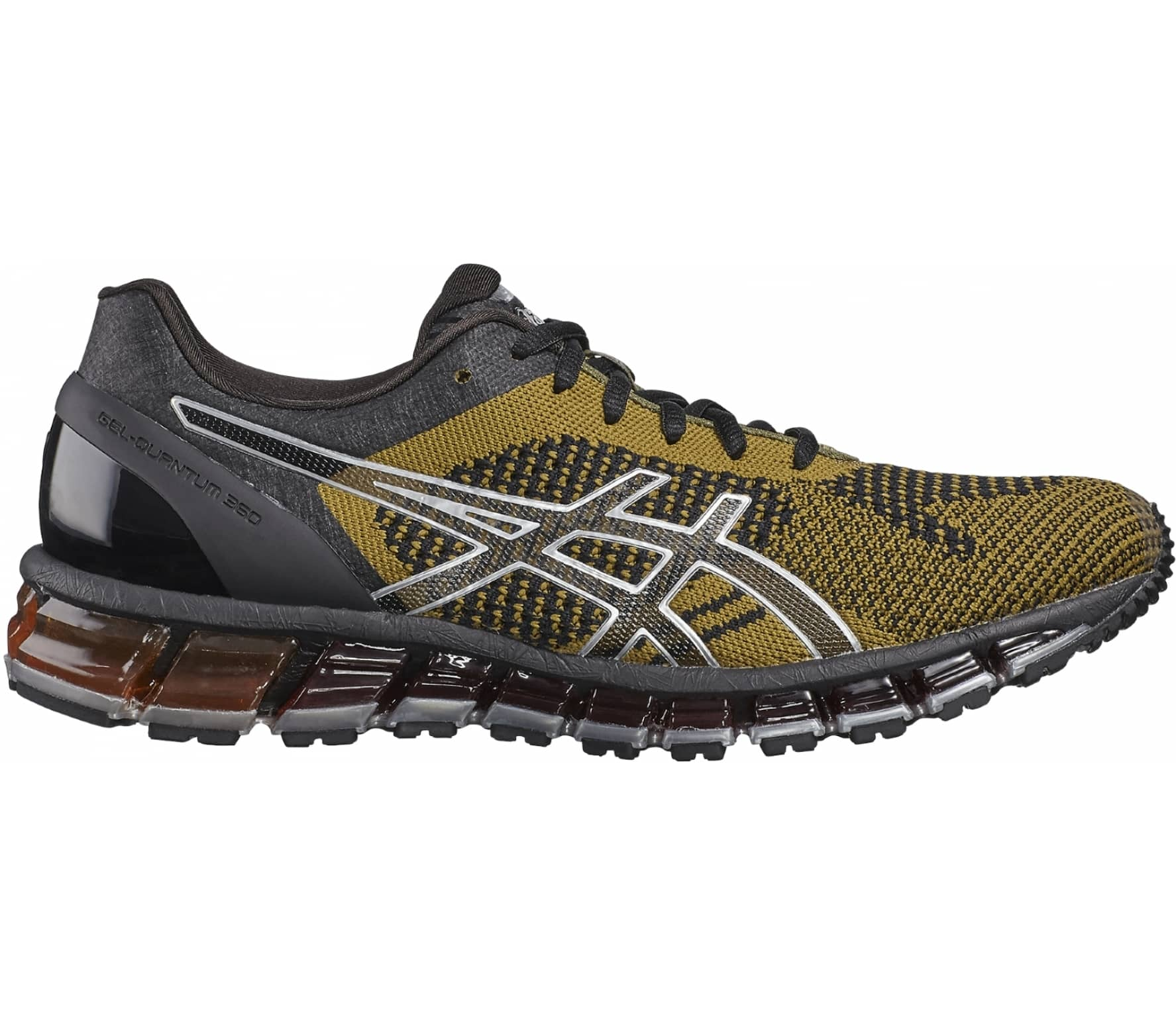 ASICS - Gel-Quantum 360 Knit men s running shoes (dark grey yellow ... e42b867734