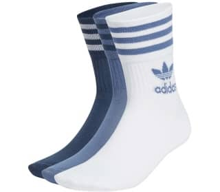 Mid Cut Solid Crew Chaussettes