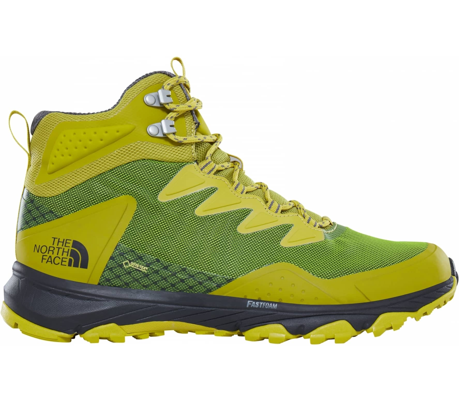 The North Face. Ultra Fastpack III Mid GTX men s hiking shoes (green yellow) 39eba1be65f