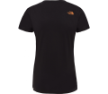 The North Face - S/S Easy Damen Funktionsshirt (schwarz/orange)