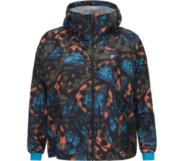 Peak Performance - Work It Print women's outdoor jacket (black/blue)