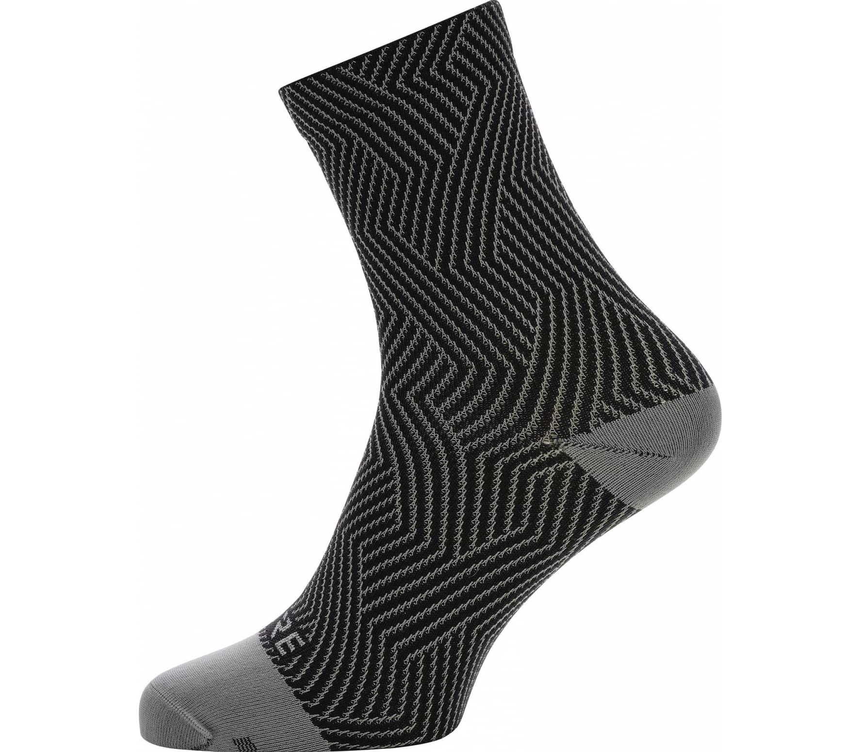 GORE® Wear C3 Optiline Mid Socks Bike Socken Herren silber