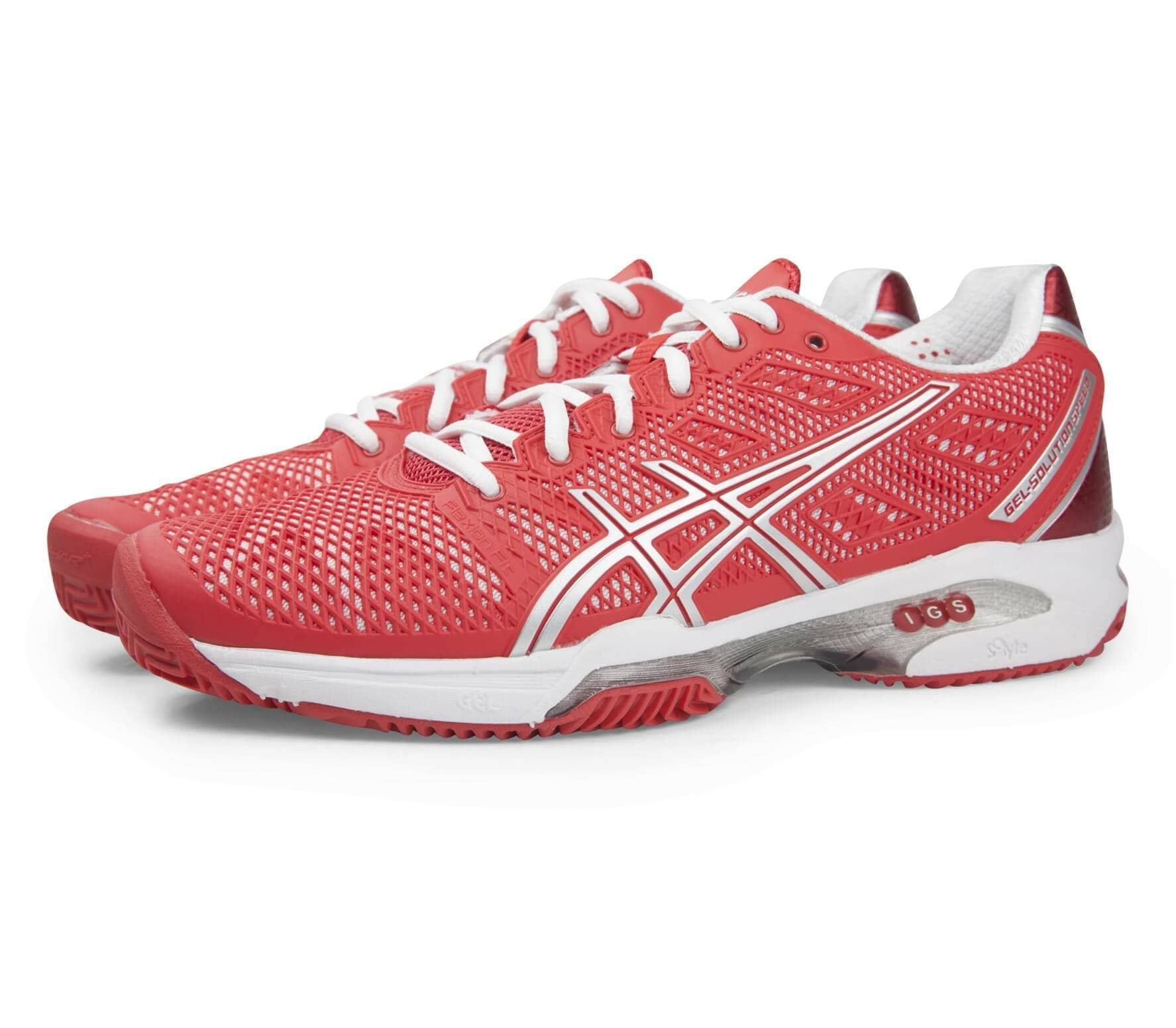 7486a2f8 ASICS - Gel Solution Speed 2 Clay women's tennis shoe (red)