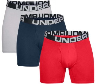 Under Armour Charged Cotton 6 in 3 Pack Uomo Boxer