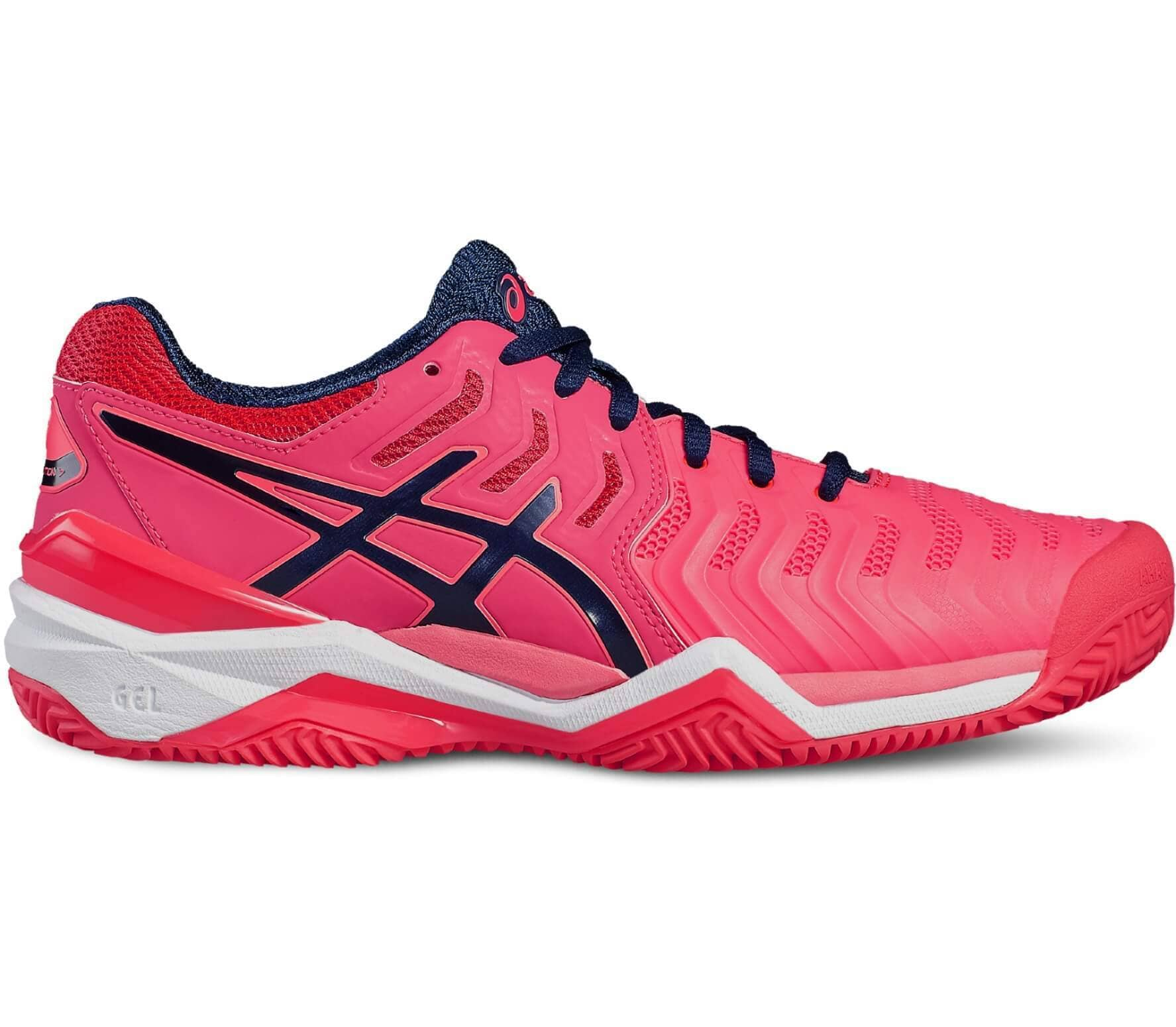 watch 5fef5 7c0bf Asics - Gel-Resolution 7 Clay Femmes Chaussure de tennis (rose bleu)