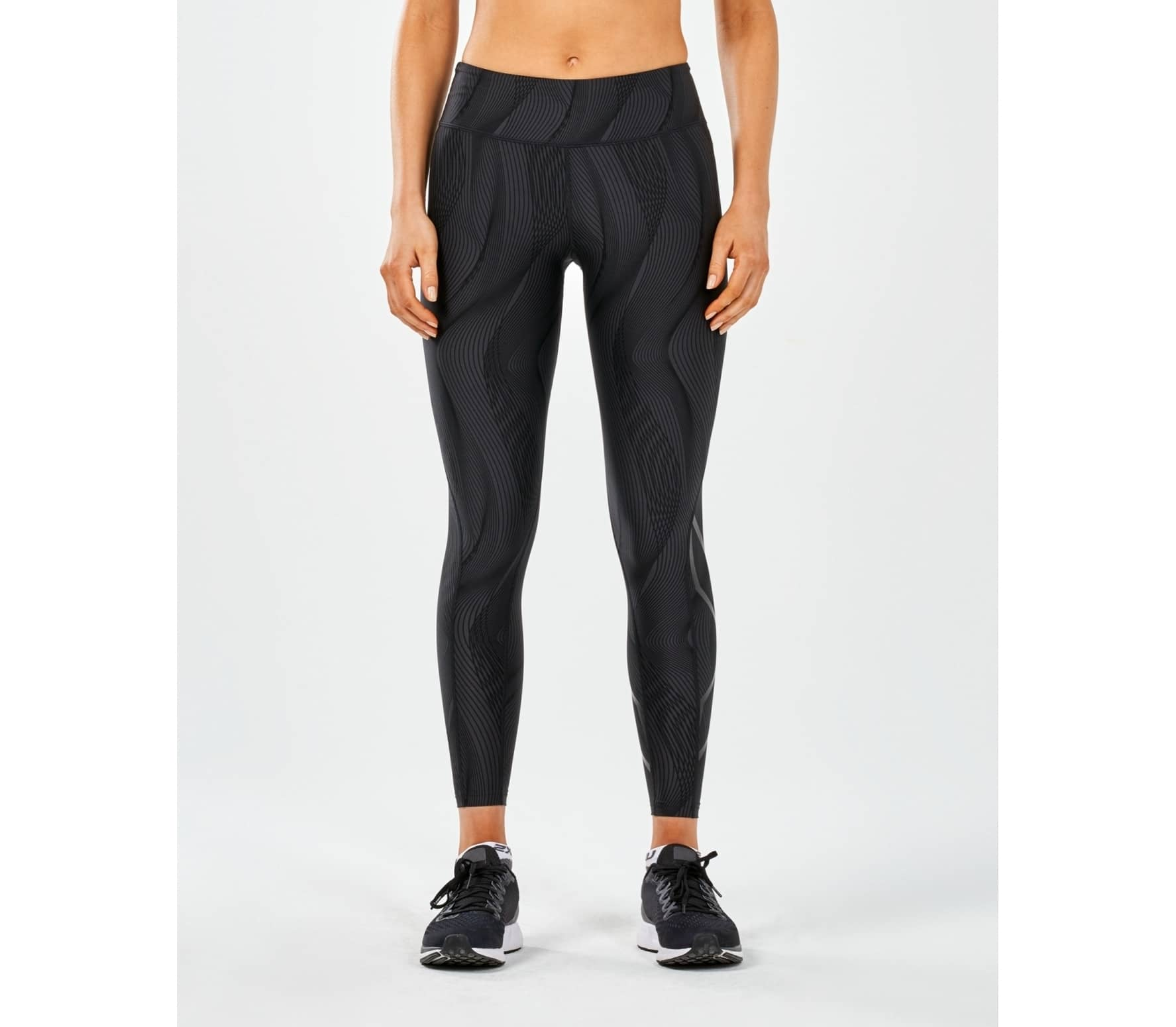 a1d2176741 2XU - Print Mid-Rise Compression Tights with Storage women's running pants  (black)