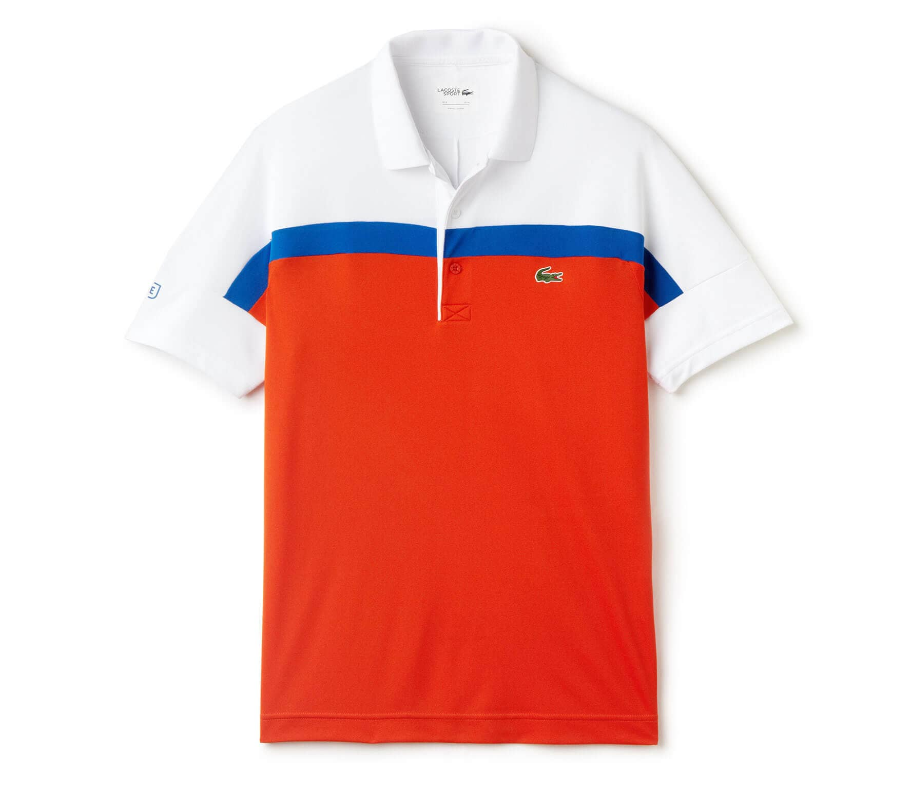 a6a9f5b463e0 Lacoste - Roland Garros Shortsleeve Ribbed Collar Hommes Tennis Polo (rouge  blanc)