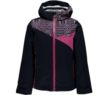 Spyder - Project Children skis jacket (dark blue/pink)