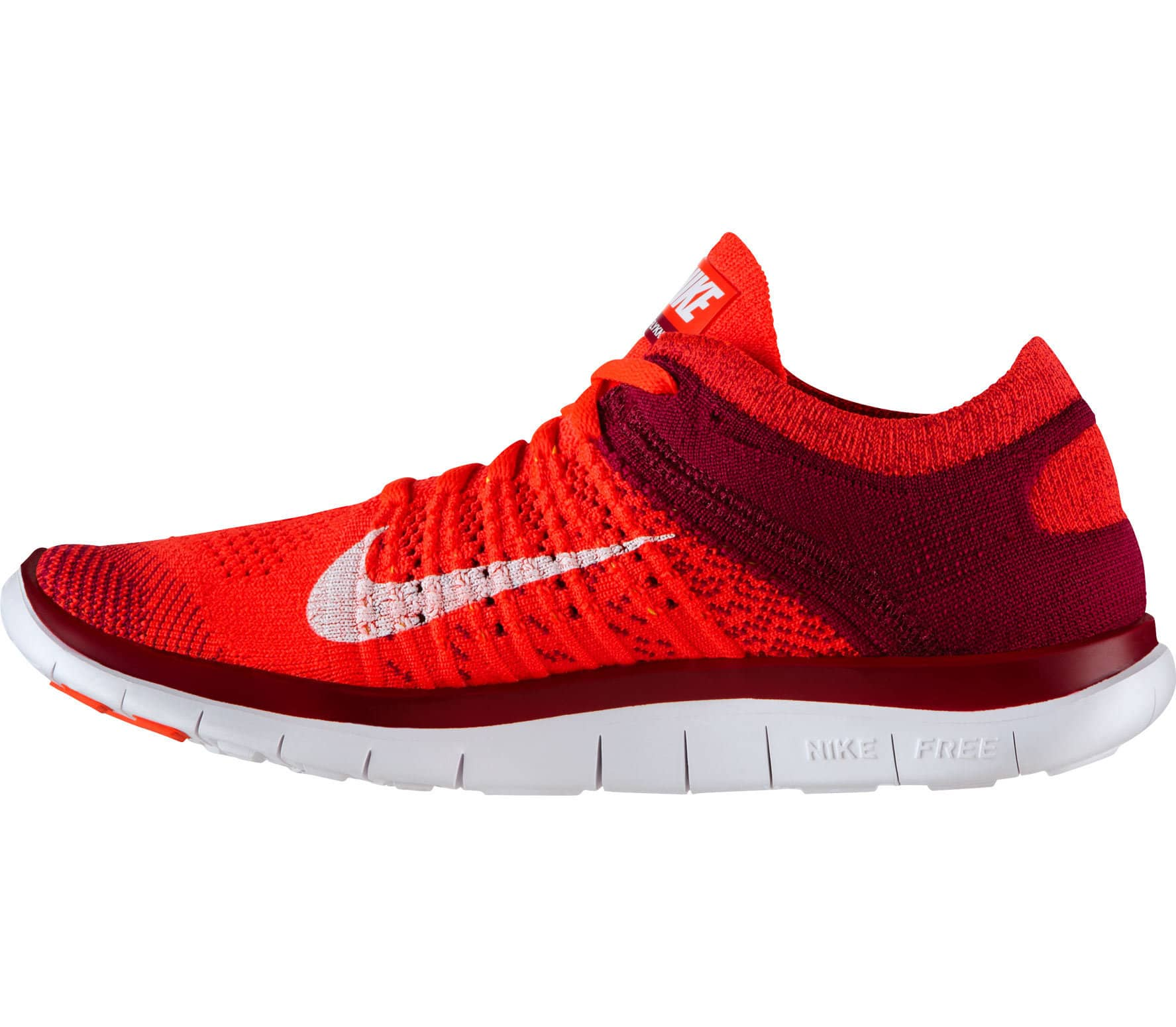 nike free flyknit 4 0 damen laufschuh rot wei im. Black Bedroom Furniture Sets. Home Design Ideas