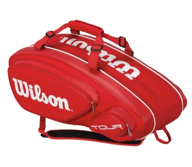 Wilson - Tour V 9Pk Bag Tennistasche (rot)