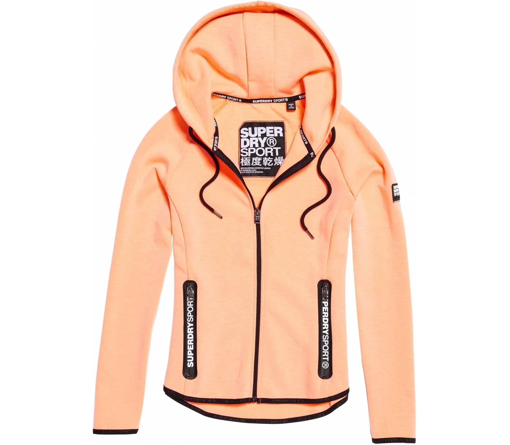 Superdry - Sport Gym Tech Luxe Ziphood Damen Trainingshoodie (koralle) - S