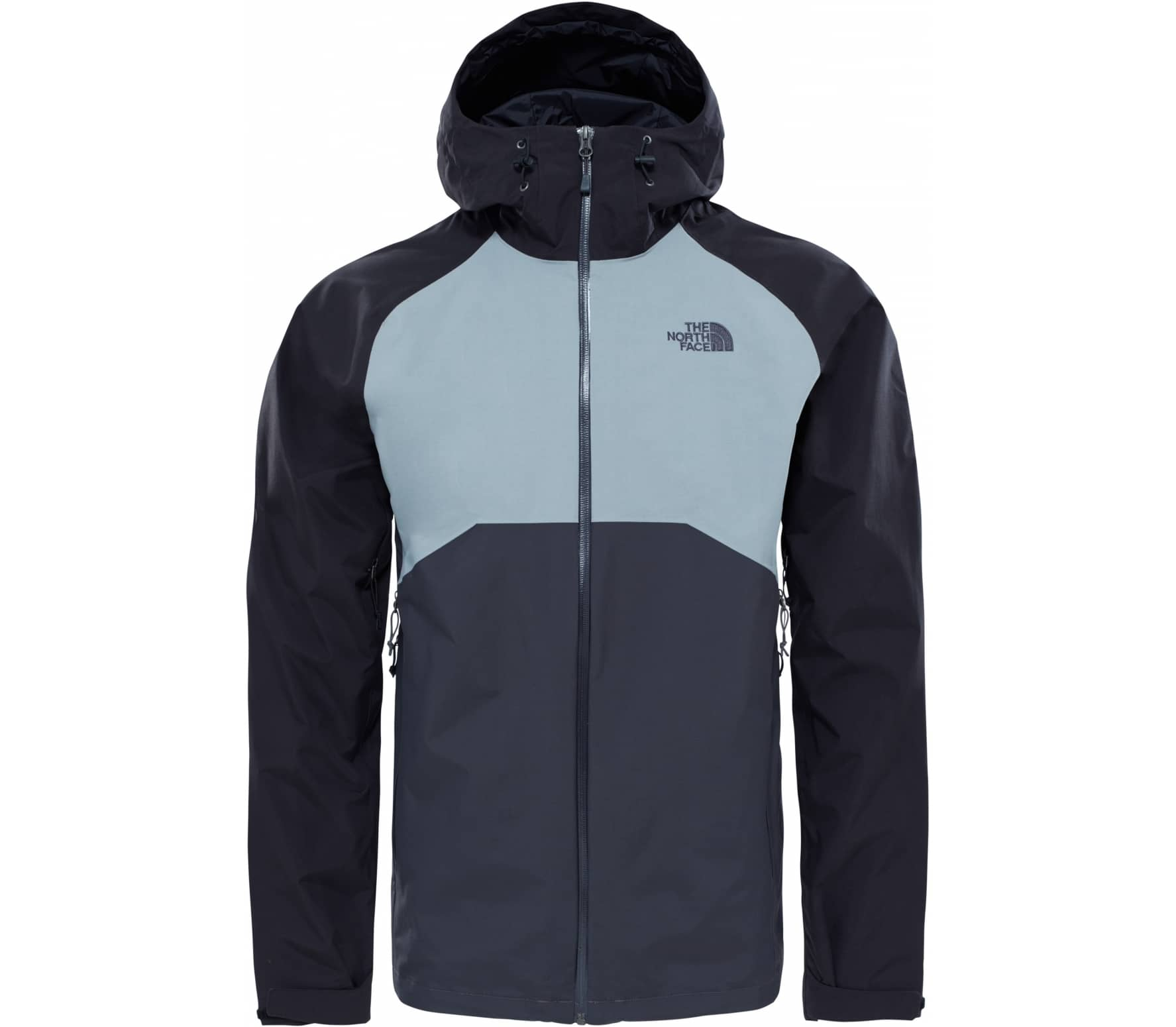 the north face stratos herren regenjacke grau schwarz im online shop von keller sports kaufen. Black Bedroom Furniture Sets. Home Design Ideas