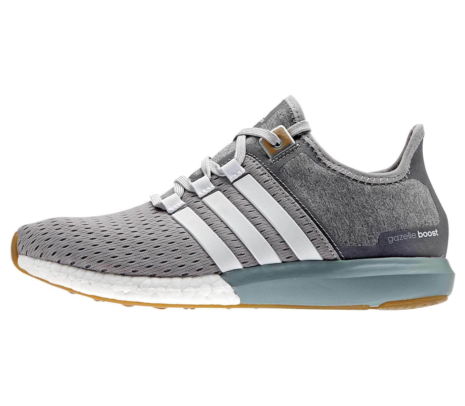 Afilar Actual posterior  adidas gazelle boost grey