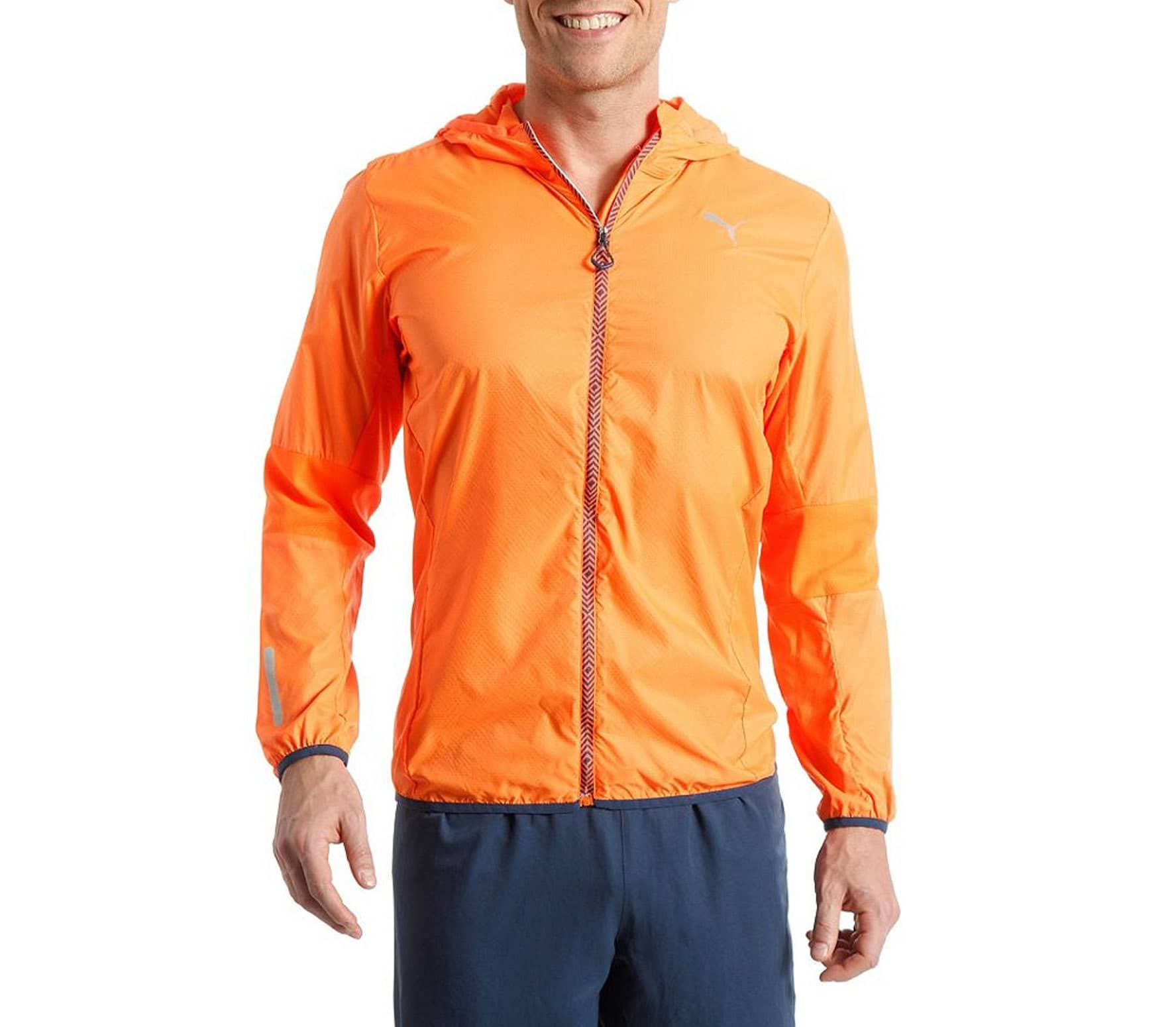 Puma PR Pure Hood Lightweight men's running jacket (orange)