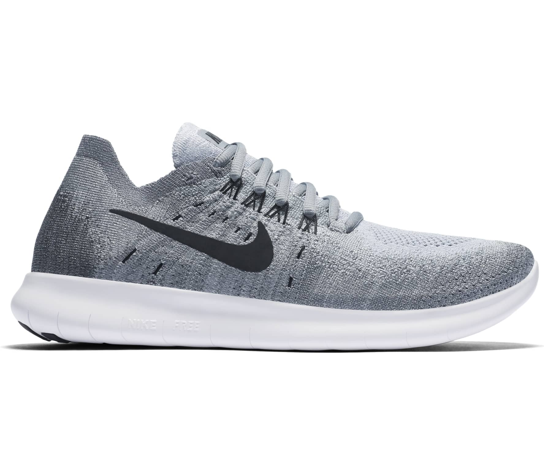 Nike - Free RN Flyknit 2017 women s running shoes (light grey white ... a7957e76e