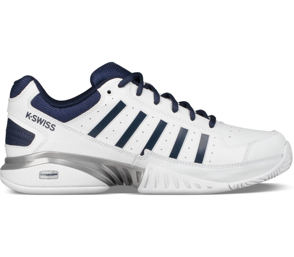 uk availability 69f04 f9c2a K-Swiss - Receiver IV men s tennis shoes (white blue)
