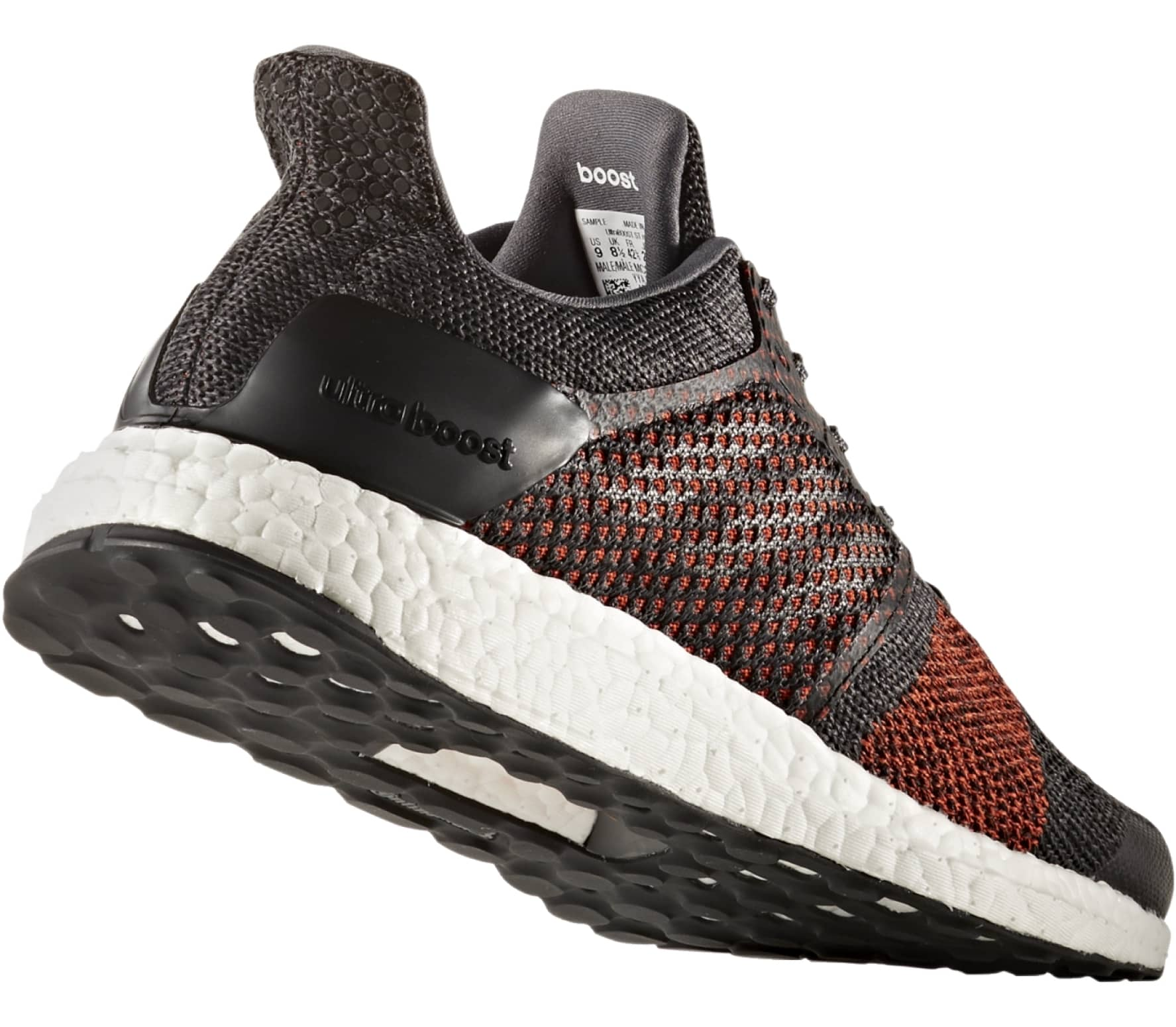 47a8cf1c6 ... coupon code adidas ultra boost st mens running shoes dark red black  9bdf2 0b99c