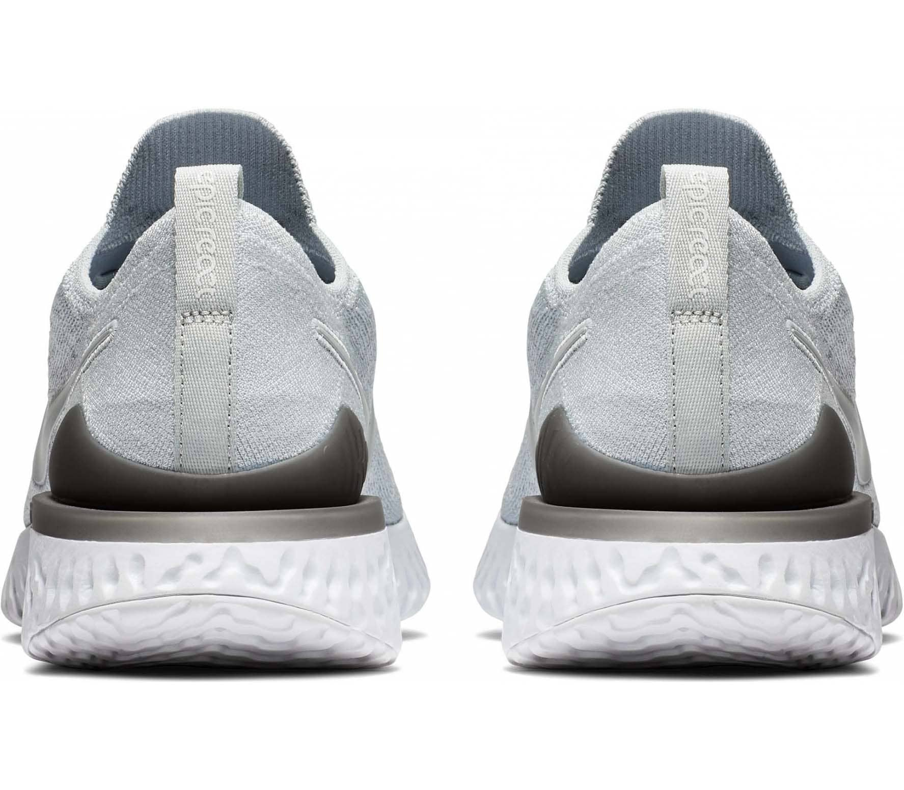 Nike - Epic React Flyknit 2 chaussures de running pour hommes (blanc/gris)