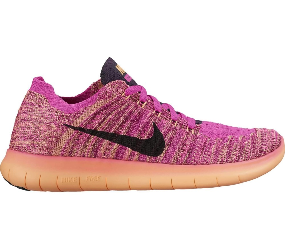 Nike - Free RN Flyknit (GS) Junior Laufschuh (pink/orange)