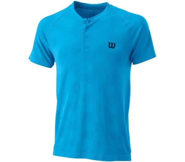 WILSON Power Seamless Henley Men Tennis Top - 1
