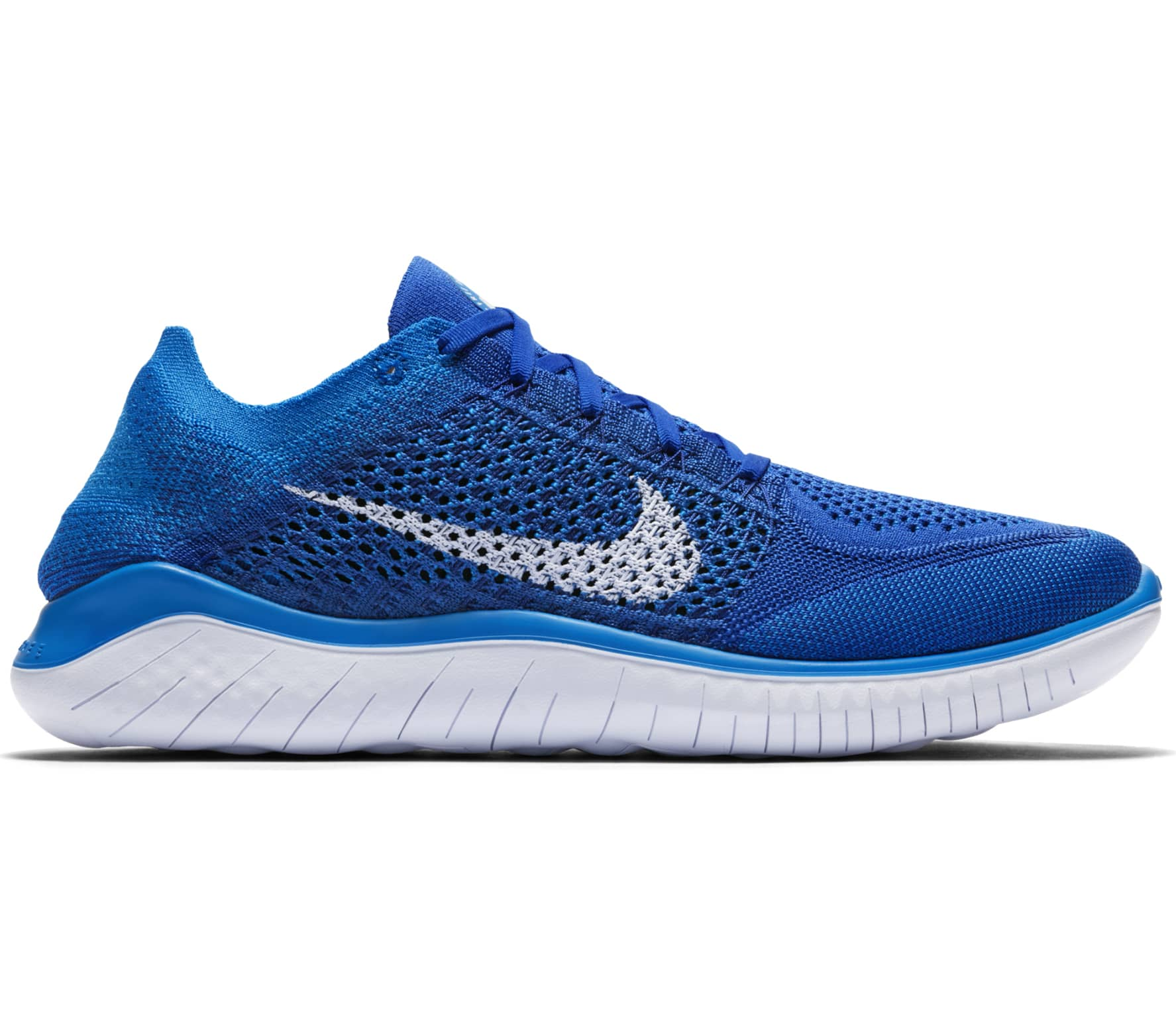 nike free rn flyknit 2018 herren laufschuh blau im. Black Bedroom Furniture Sets. Home Design Ideas