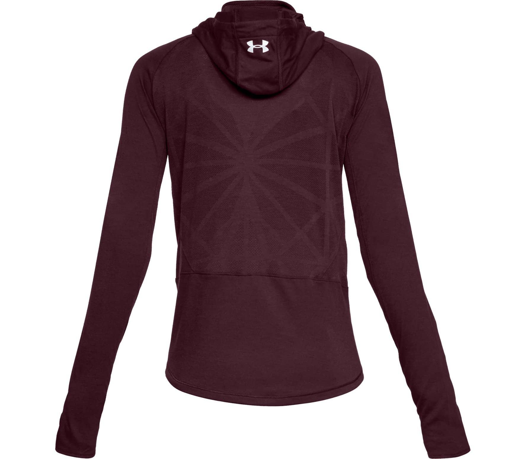 best sneakers 4f0c9 24b4a Under Armour - Swyft Funnel women s running hoodie (dark red)