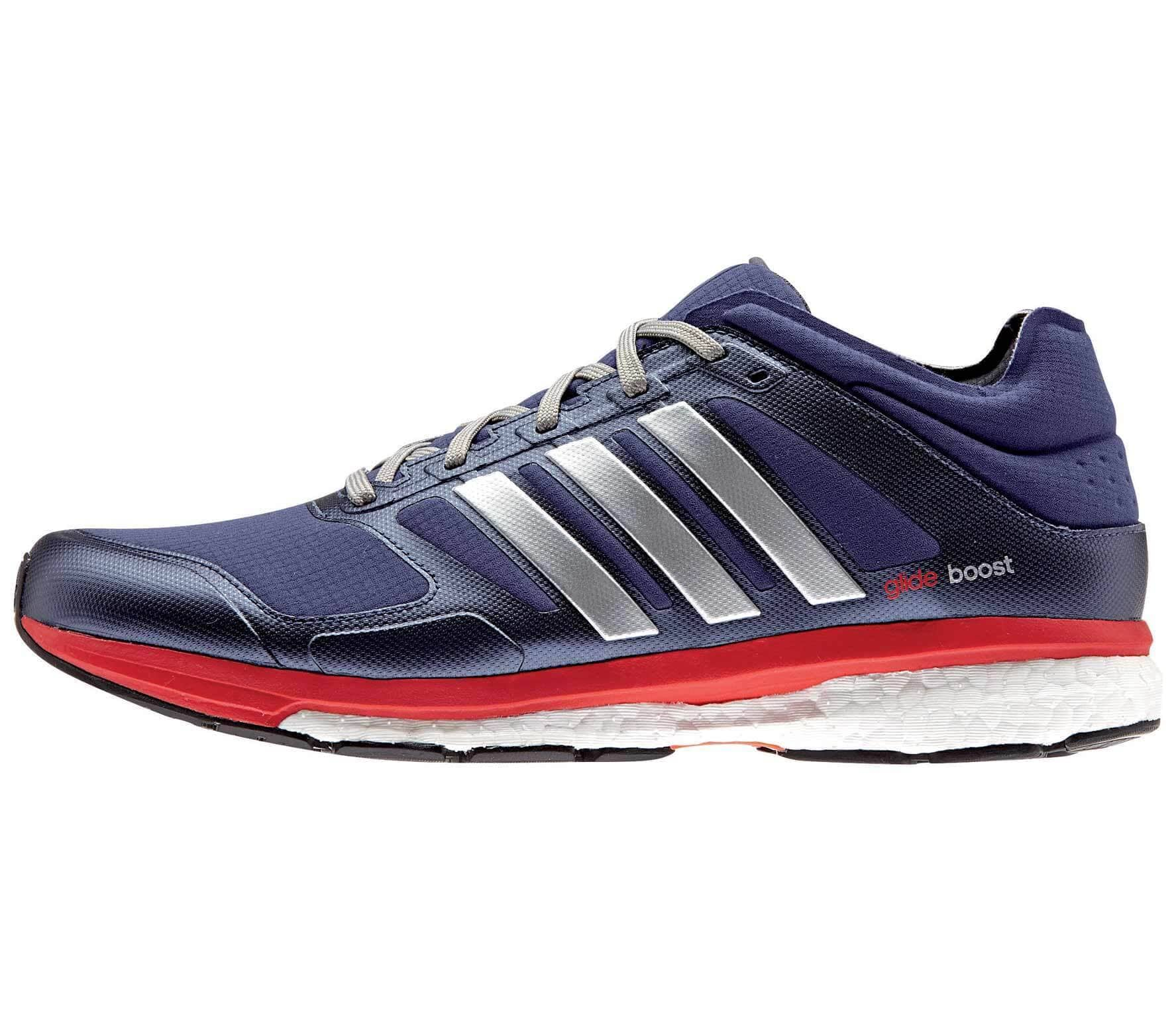 454e4f6b05977 Adidas - Supernova Glide Boost 7 Climaheat men s running shoes (dark blue  silver)