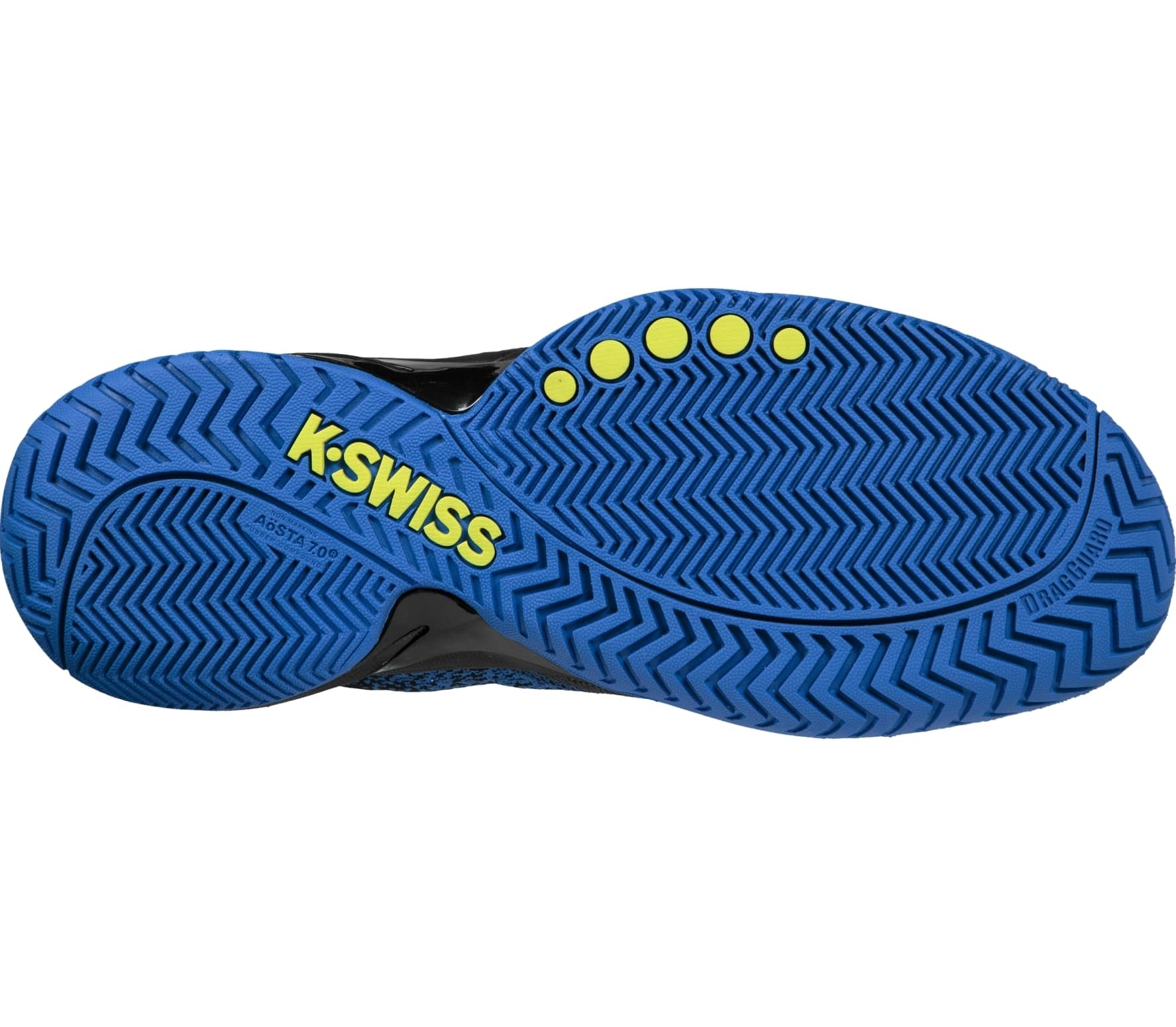 buy online c2e69 900ac K-Swiss - Knitshot men s tennis shoes (black blue)