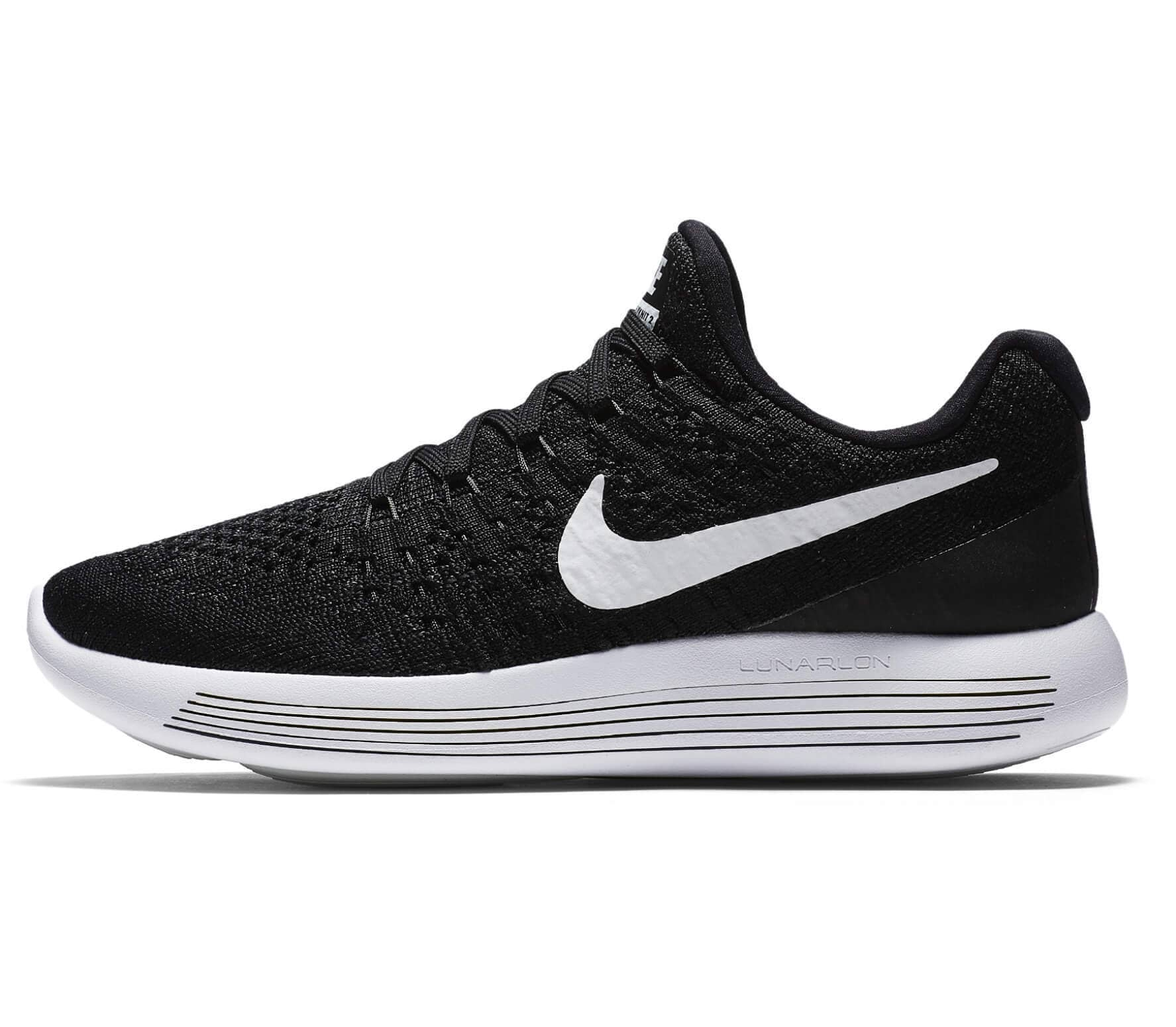 huge discount ddfe5 8d474 Nike - Lunar Epic Low Flyknit 2 women s running shoes (black white)