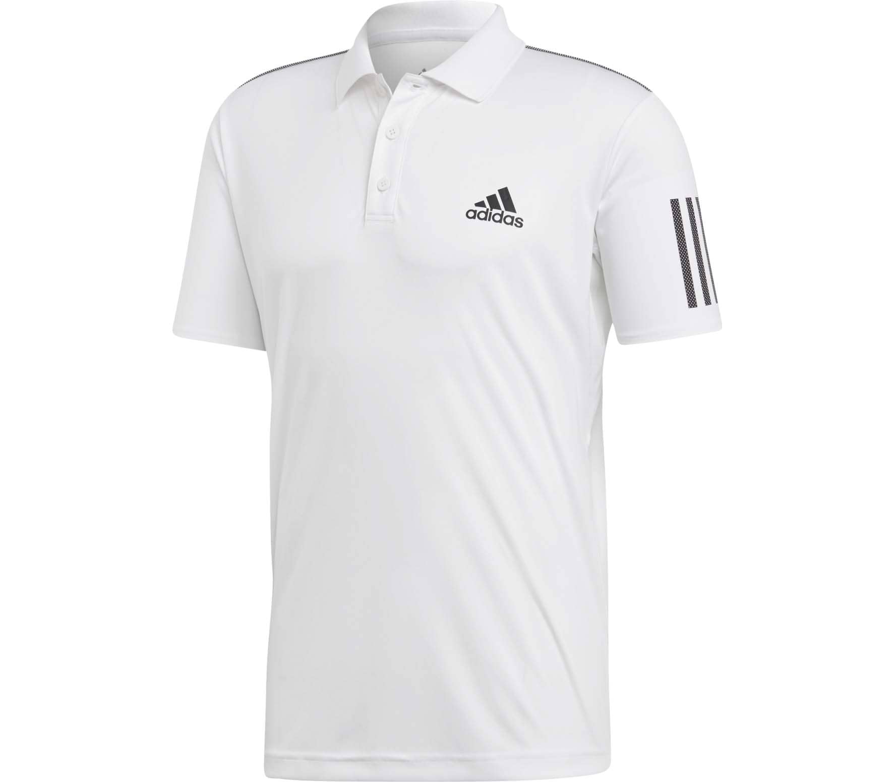 6e7a148a60a adidas Performance - Club 3 Stripes men s tennis polo top (white black)