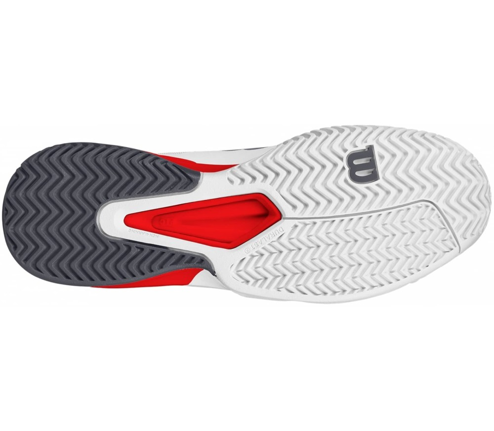 Men S Rush Pro Tennis Shoes White And Red