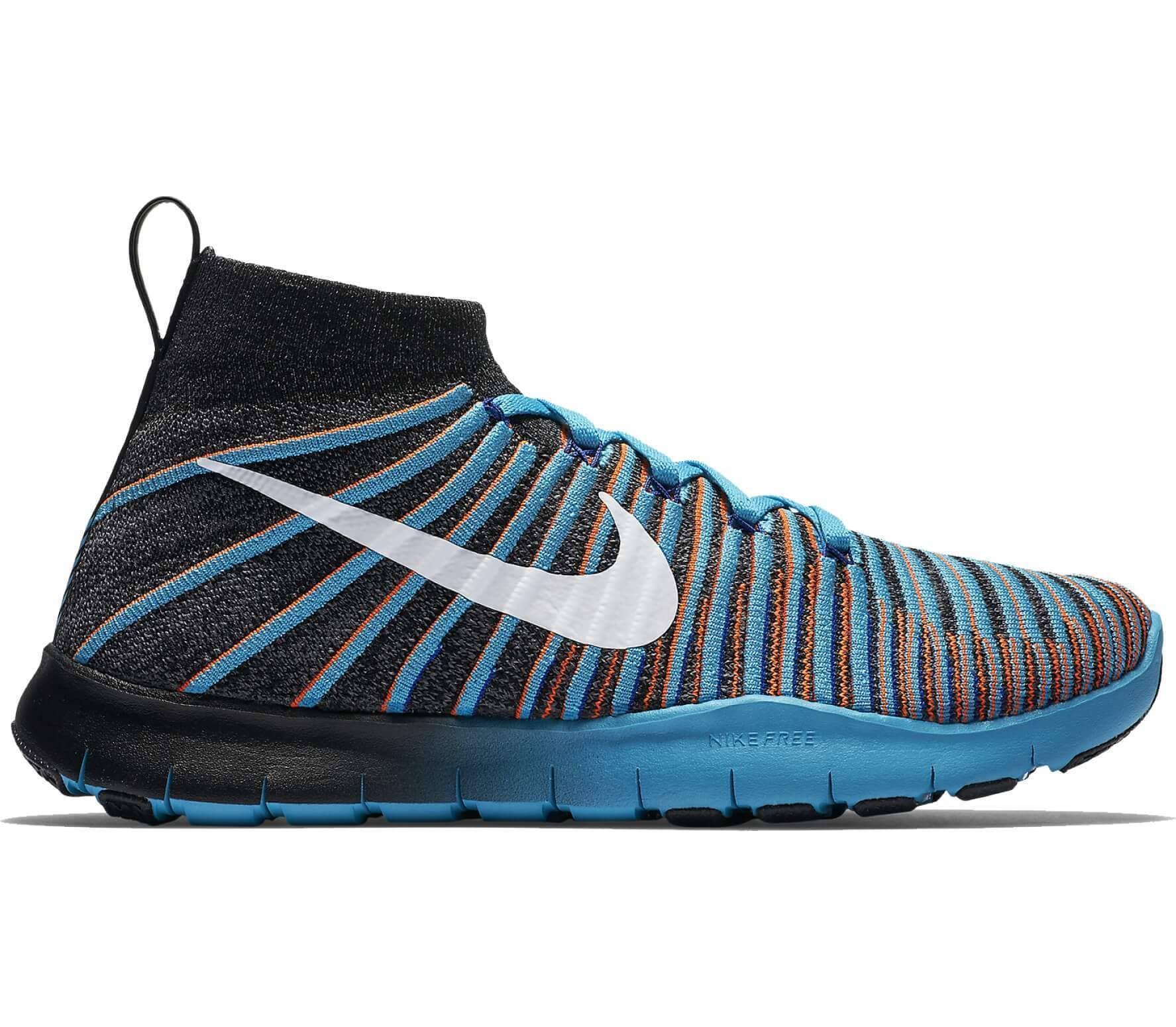 blueblack heren Trainingsschoenen Flyknit Force Train Nike voor Free nxqz00U7