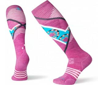 PhD Ski Light Elite Pattern Mujer Calcetines de esqui