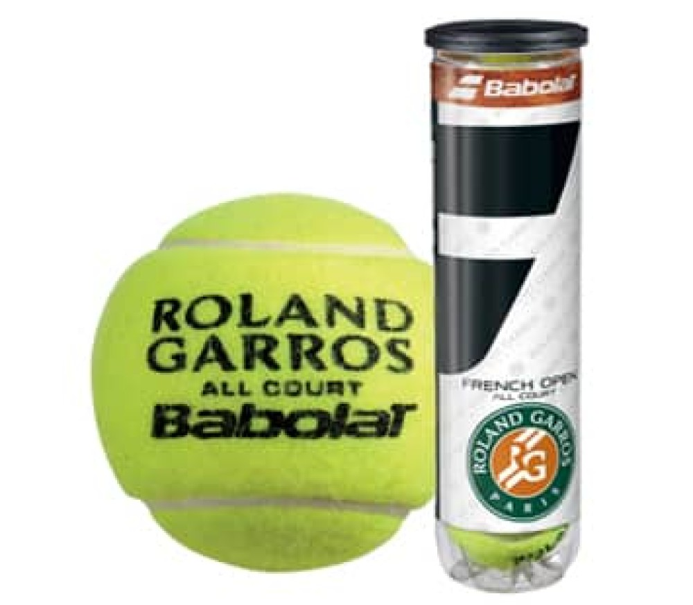 Babolat - French Open All Court tennis balls - 4 units