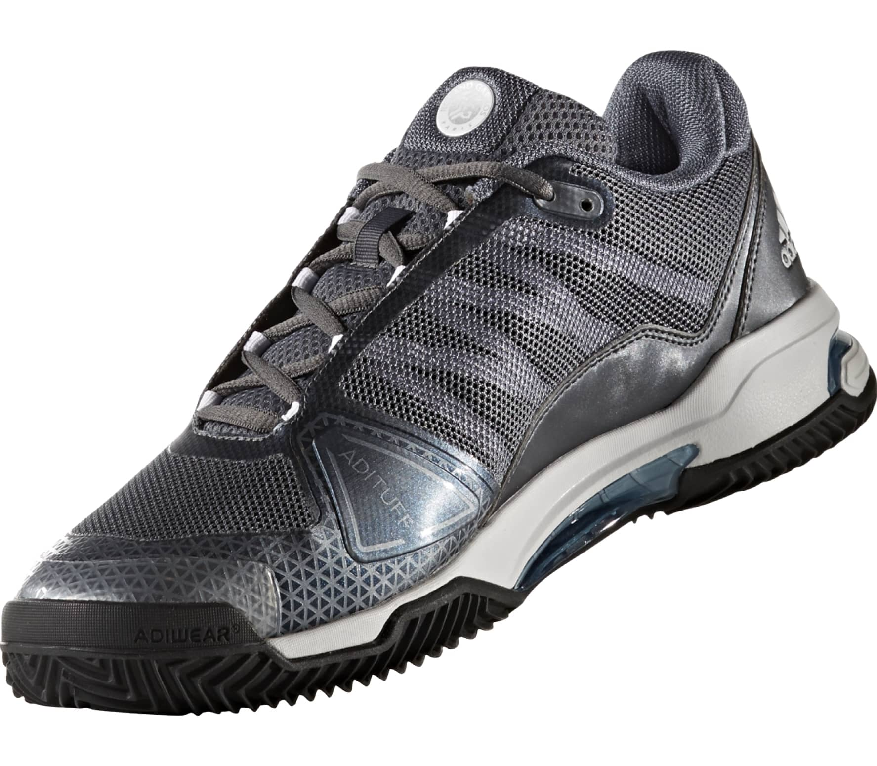 low priced 67b0f 2d1fc Adidas - Barricade Club Clay Synthetic mens tennis shoes (greywhite)